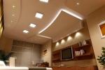 гипсокартонный потолок со светильником