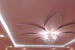 цветок с люстрой на потолке
