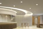 светильник в интерьере и на потолке