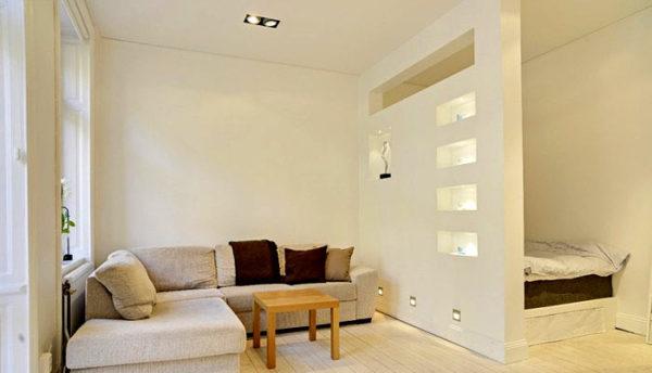 перегородка, разделяющая помещение на место для отдыха и приема гостей