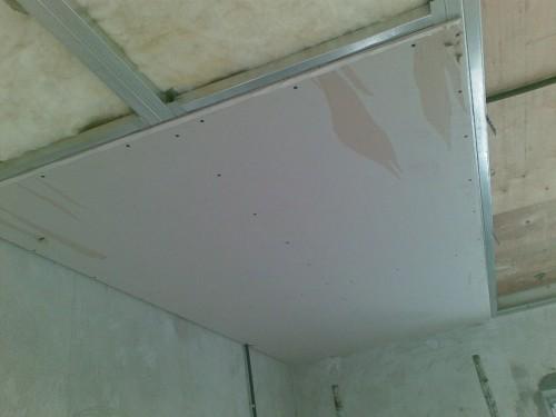 утепление потолка из гипсокартона минеральной ватой