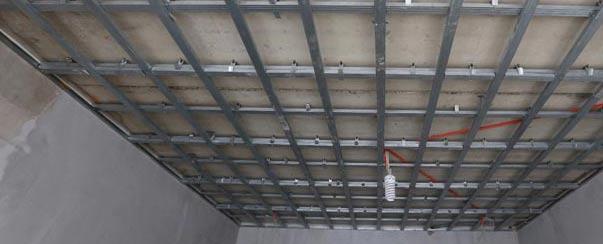 Как смонтировать каркас потолка под гипсокартон