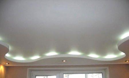 двухуровневый потолок гкл