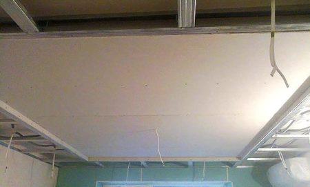конструкция потолок гкл