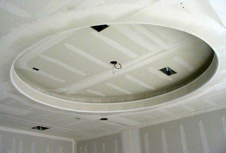 шпаклевание двухуровневого потолка