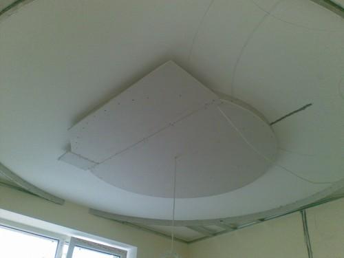 Многоуровневый потолок - круг