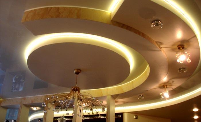 гипсокартон многоуровневый потолок