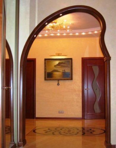 ассиметричная арка из гипсокартона