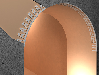 перфорированный арочный уголок