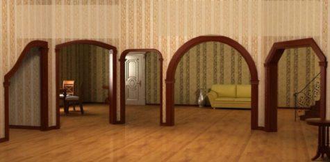 несколько арок из гипсокартона в квартире