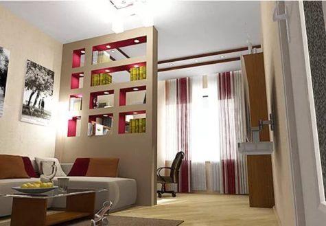 ниша для деления комнаты