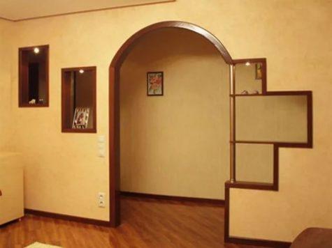 арка в дверном проеме