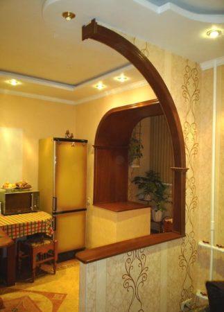 арка кухня оформление