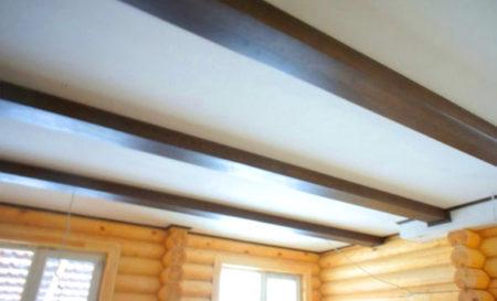 бревенчатый дом потолок гипсокартон