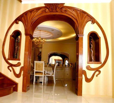 арки деревянная отделка