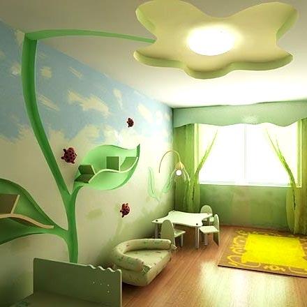 детская комната гипсокартонный потолок