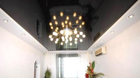 гипсокартон натяжной потолок