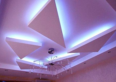 парящий потолок освещение