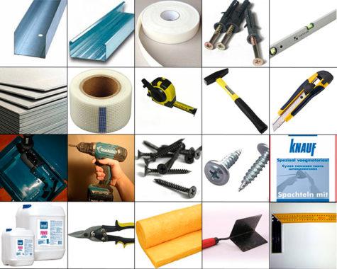 инструменты и материал