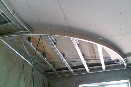 каркас  криволинейный потолок
