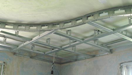 фигурный каркас потолка