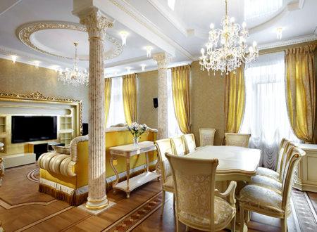 колоны гипсокартон интерьер квартира