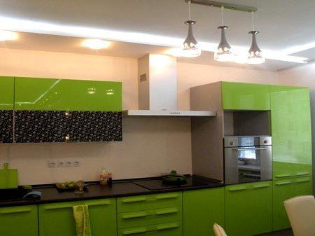 кухня гипсокартонный потолок