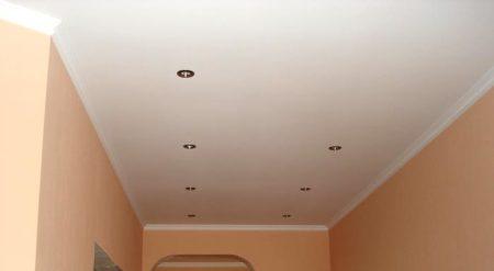 потолок матовая краска