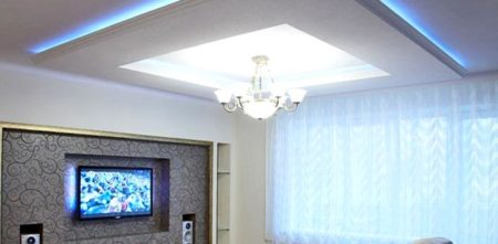 парящий потолок интерьер