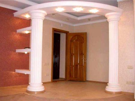 арка с подсветкой