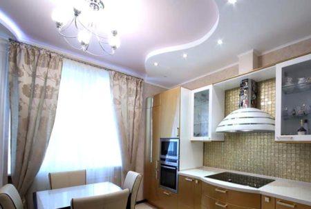 гипсокартонный потолок кухня