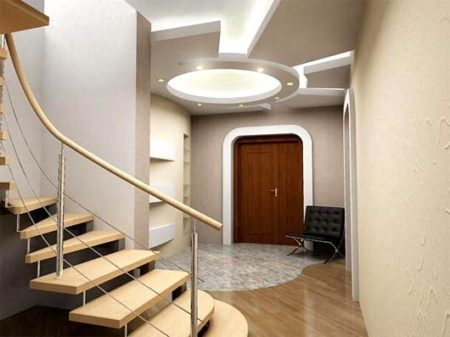 дизайн потолок прихожая