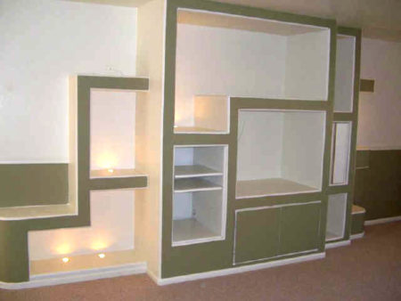 пристенный  шкаф гипсокартон