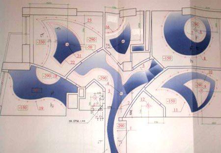 проект потолка гипсокартон