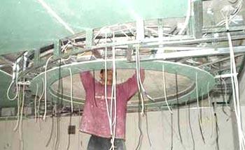 электропроводка фигурный потолок гипсокартон