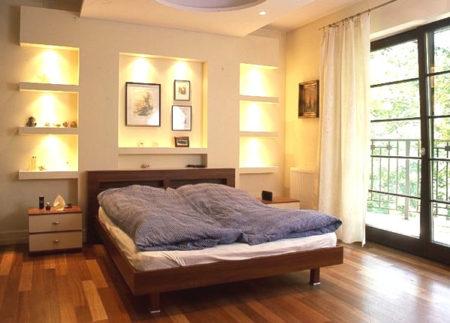 спальня ниша гипсокартон