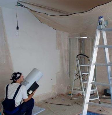 сушка потолка