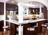 Установка гипсокартонной арки на кухне