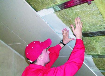 потолок зазор гипсокартон