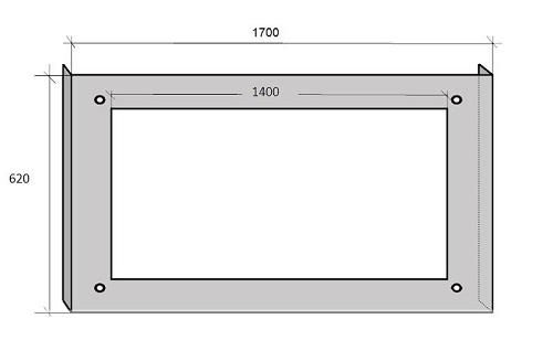 чертеж каркаса экрана