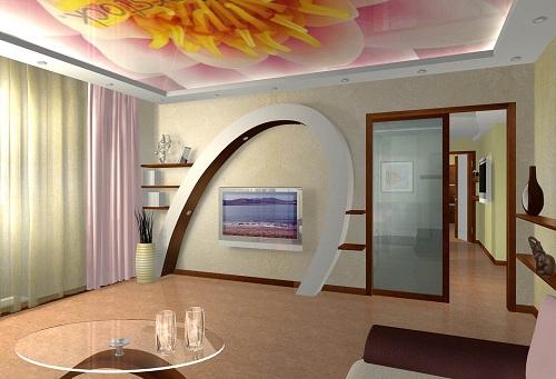 дизайн комнаты с гипсокартона