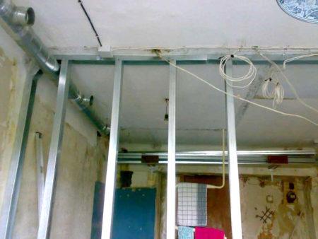 провода электроснабжения гипсокартон