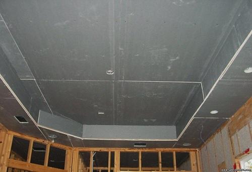 готовый гипсокартонный потолок