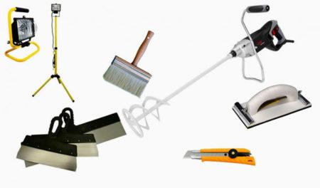 инструменты покраска потолок