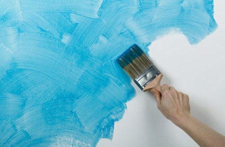кисть покраска гипсокартон