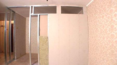 перегородка гипсокартон дверь