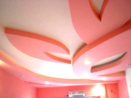 покраска подвесной потолок