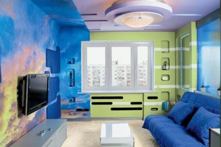 покраска стен гипсокартон