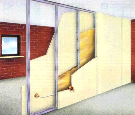 проект стена гипсокартон