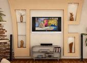 Варианты оформления дизайна гипсокартонных стен в квартире